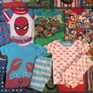 Boys Size 4 Shorts Pajama Set Bundle
